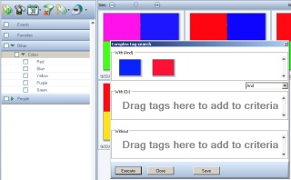 Complex search blue and red tags
